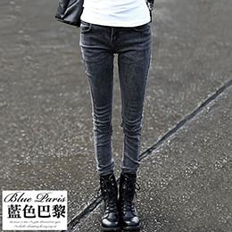 街頭潮流刷淺牛仔窄管褲