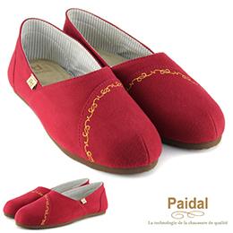 古典毛呢金線織紋懶人鞋