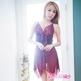 紫愛依人性感睡衣(含丁字褲)