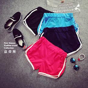 韓版健身跑步瑜珈運動短褲
