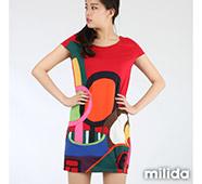 milida嚴選幾何圖形洋裝