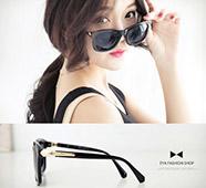 側邊金屬個性方框膠太陽眼鏡