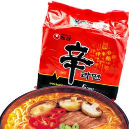 韓國進口 農心辛拉麵 泡麵 (5包入)