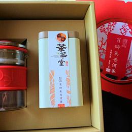 雙福禮盒★沖泡式茶壺五彩環+福茶40g