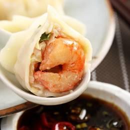 年菜評比主食類NO.2 鮮蝦高麗菜水餃40粒