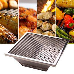 樂生活 專利1秒收納超薄不鏽鋼烤肉爐/烤肉架