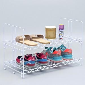獨家設計 台灣製造 四層鞋架.置物架(白色)