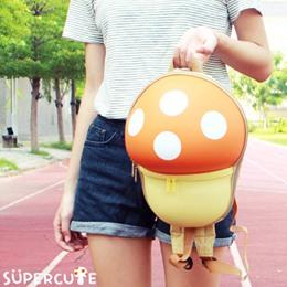 Supercute 蘑菇雙肩背包(四色)-
