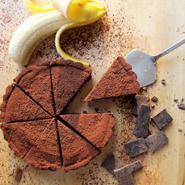 焦糖香蕉巧克力派