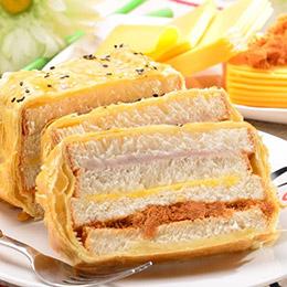 鮮芋肉鬆X法式花生豬排★三明治任選2條