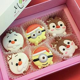 聖誕節造型馬卡龍(6入/盒)