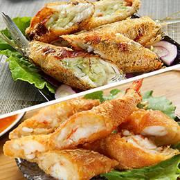 米炸魚蝦捲
