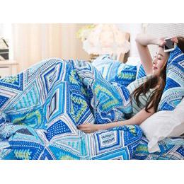 100%天絲絨-薄被套床包4件組-雙人
