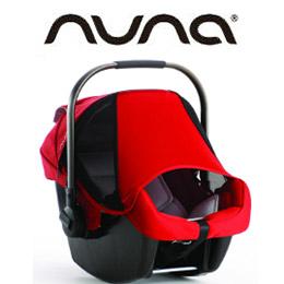 Nuna PIPA提籃汽座 黑色 / 紅色