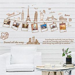 DIY無痕壁貼 牆貼-世界旅行