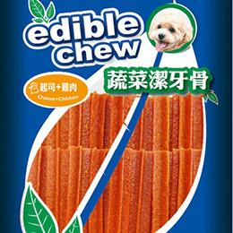 K.C.Dog蔬菜六角潔牙骨40入