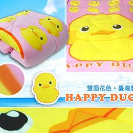 黃色小鴨保暖毛毯被