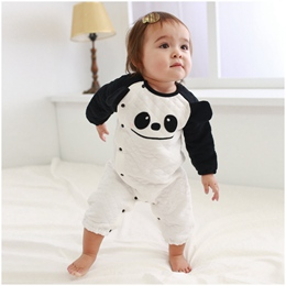 保暖熊貓空氣棉連身衣