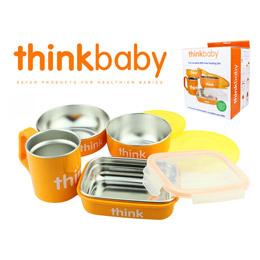 美國 ThinkBaby 不鏽鋼兒童餐具組