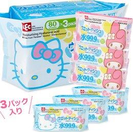 日本製KITTY濕紙巾補充包3入組