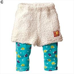 兒童假兩件短褲內搭褲