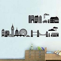 壁貼 城市剪影