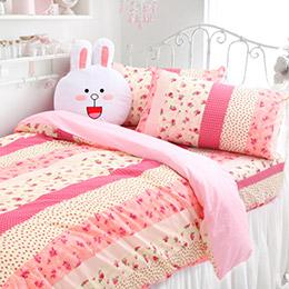 MIT 高透氣棉雙人床包組-兩色