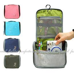 彩色韓風小鳥可掛式盥洗包/ 旅行收納包