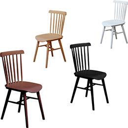 艾冬餐椅(黑/白/深胡桃/淺原木4色)
