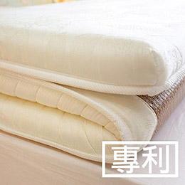 日系記憶棉獨立筒彈簧冬夏兩用收納床墊