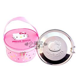 Hello Kitty 不鏽鋼雙層便當盒《銀.KT臉》附專屬收納袋