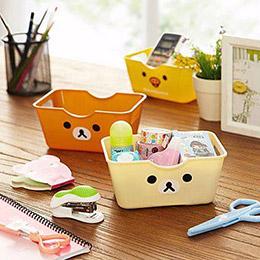 日系卡通熊桌面收納盒