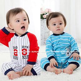 可愛造型!寶寶長袖連身衣