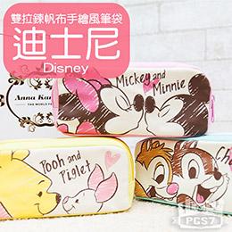 日本迪士尼手繪風帆布筆袋