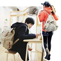 韓版時尚帆布後背包 大容量