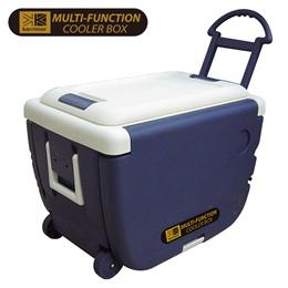 全日鮮一桌二椅拖輪30公升冷藏箱