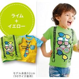 [日本空運]男孩純棉可愛T恤(2件組)