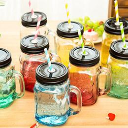 創意漸變色!玻璃杯梅森瓶