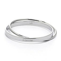 Calvin Klein 經典雙環手環 銀色