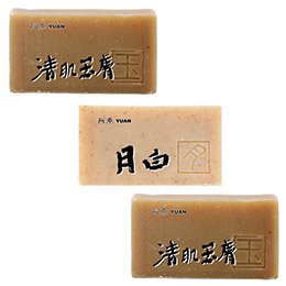 阿原肥皂獨家價 清肌靚白玉膚組(清肌玉膚皂100g*2+月白皂60g*1)