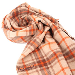 Paul Stuart經典蘇格蘭格紋羊毛披肩