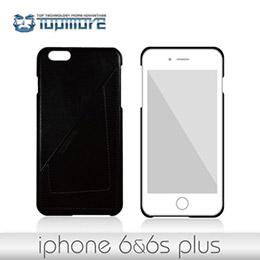 達墨TOPMORE iPhone6 Plus / 6S Plus精選牛皮手機套-經典黑