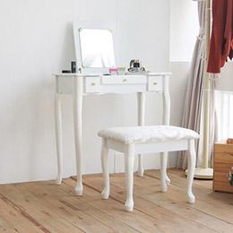 公主典雅掀鏡化妝桌椅組