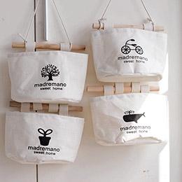 Zakka簡約棉麻布掛壁收納袋