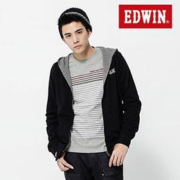 EDWIN 千鳥格紋 雙面穿連帽外套