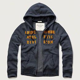 A&F 立體貼布連帽外套