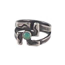 印地安圖騰綠松石戒指