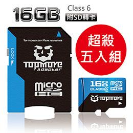 TOPMORE 16GB microSDHC Class 6 記憶卡