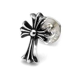 【Chrome Hearts】十字架造型純銀耳環