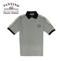 優雅品牌刺繡質感POLO衫 (灰.深灰)